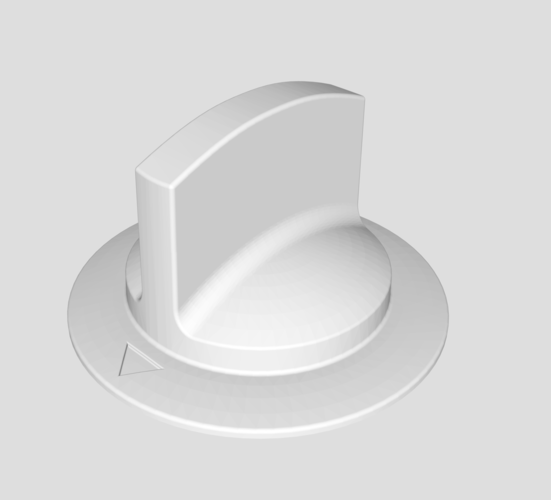 GE Dryer Knob 3D Print 185888