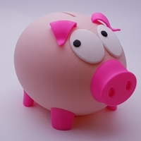 Small Mr Biggy Panks - The Rather Shy Piggy Bank 3D Printing 185945