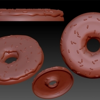 Small Donut With Sprinkles Flat 3D Printing 186031