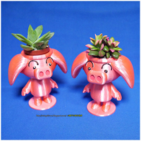 Small Cute animal - Rose pig potted 3D Printing 186058