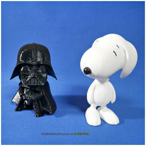 Rotatable and interchangeable heads-Star Wars - Darth Vader & Sn 3D Print 186063