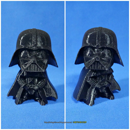 Rotatable and interchangeable heads-Star Wars - Darth Vader & Sn 3D Print 186065