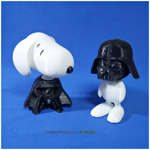 Rotatable and interchangeable heads-Star Wars - Darth Vader & Sn 3D Print 186068