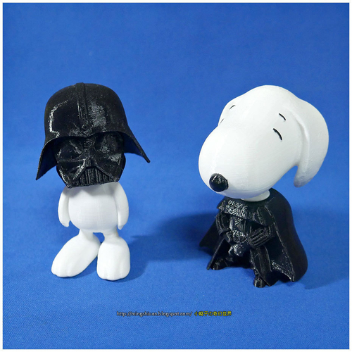 Rotatable and interchangeable heads-Star Wars - Darth Vader & Sn 3D Print 186069