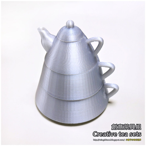 Creative tea sets 3D Print 186094