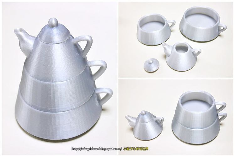 Creative tea sets 3D Print 186095