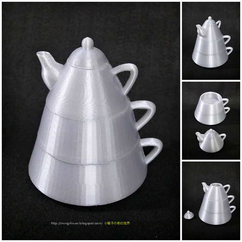 Creative tea sets 3D Print 186096