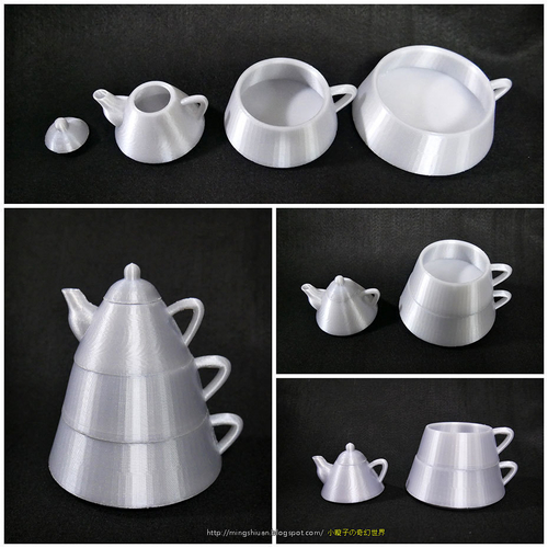 Creative tea sets 3D Print 186097