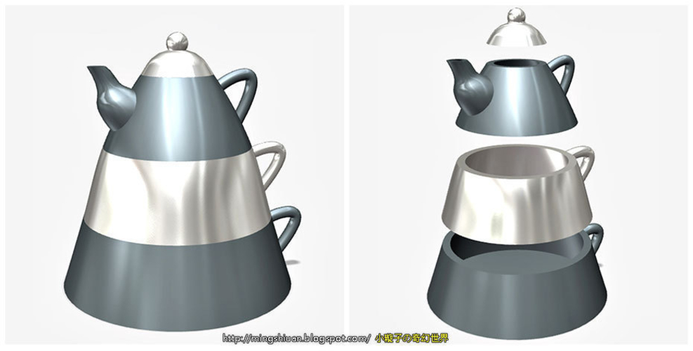 Creative tea sets 3D Print 186098