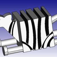 Small Zebra 3D Block Zoo 3D Printing 186106