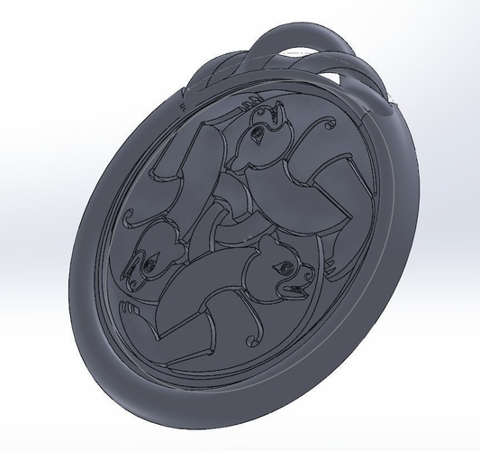 The Brave - Merida Queen Elinor medallion / necklace 3D Print 186226