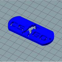 Small csgo keychain 3D Printing 186254