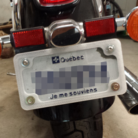 Small Motorcycle license plate frame 3D Printing 186288