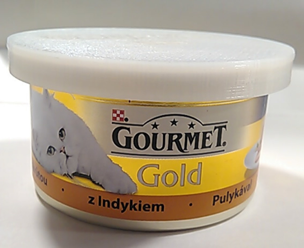 Cover for cat food can - Gourmet  3D Print 186299