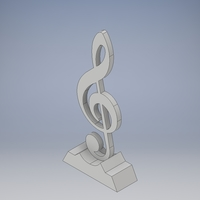 Small Treble Trophy  3D Printing 186360