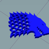 Small wolf keychain 3D Printing 186390