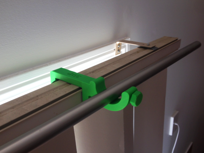 3d Printed Curtain Rod Holder For Blinds Attachment By Custom 3d
