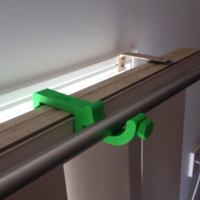 Small Curtain Rod Holder for Blinds Attachment 3D Printing 186458
