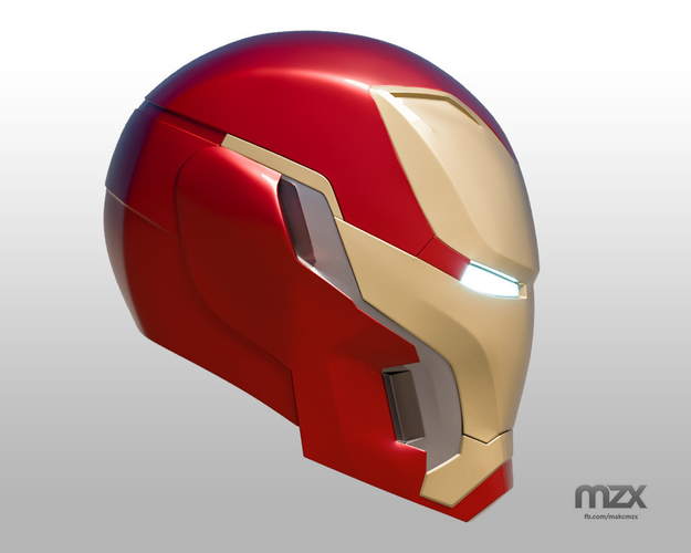 Iron Man Mark 50 Infinity War helmet 3D Print 186487