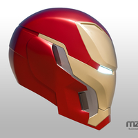 Small Iron Man Mark 50 Infinity War helmet 3D Printing 186487
