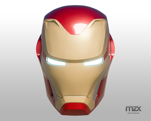 Iron Man Mark 50 Infinity War helmet 3D Print 186488