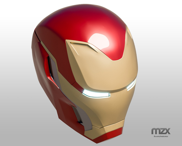 Iron Man Mark 50 Infinity War helmet 3D Print 186489