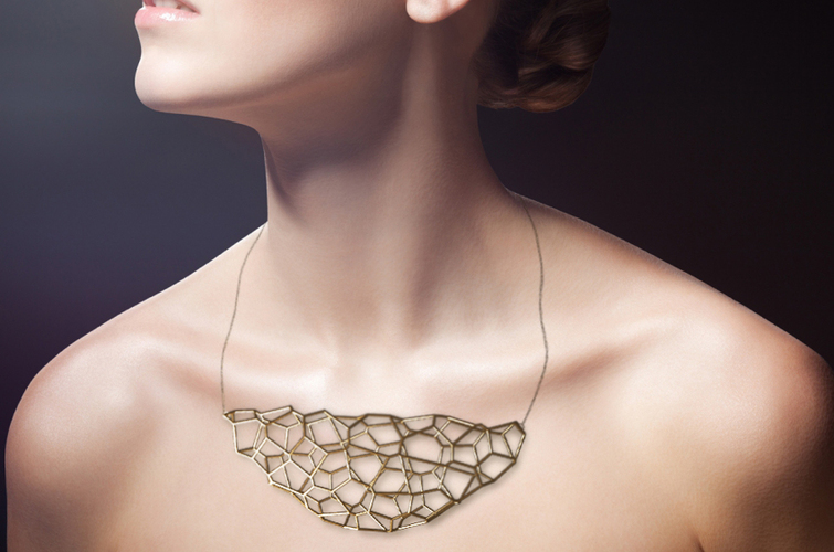 3D voronoi necklace 3D Print 18649