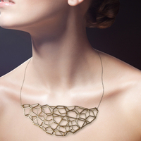 Small 3D voronoi necklace 3D Printing 18649