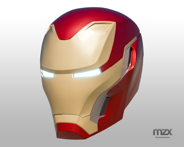 Iron Man Mark 50 Infinity War helmet 3D Print 186490