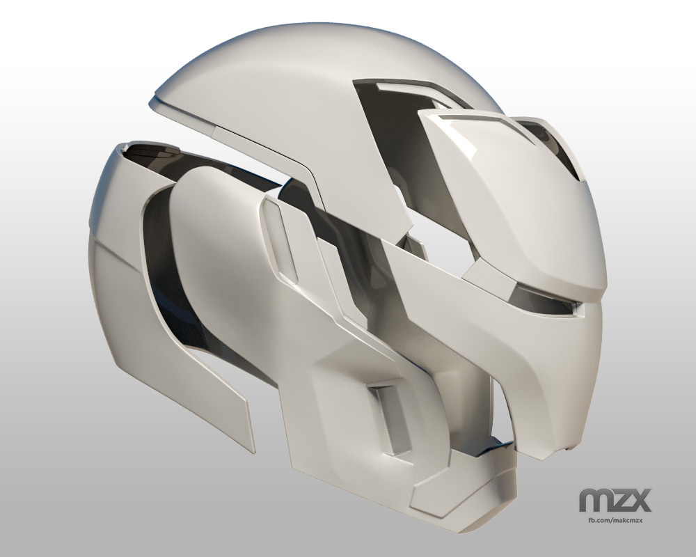 Iron Man Mark 50 Infinity War helmet @ Pinshape