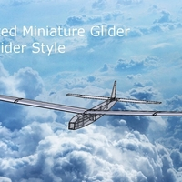 Small 3D Printed Miniature Glider - Balsa Glider Style!!! 3D Printing 186595