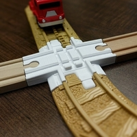 Small Geotrax-Brio crossing 3D Printing 186805