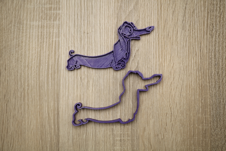 Cookie form dog dachshund 3 3D Print 186834