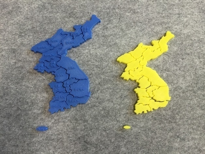 Puzzle of Korea 3D Print 186889