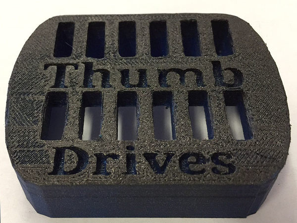 Medium 12 Slot Thumb Drive Holder 3D Printing 186948