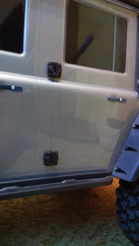 Door hinges for Traxxas TRX-4 body 3D Print 186949