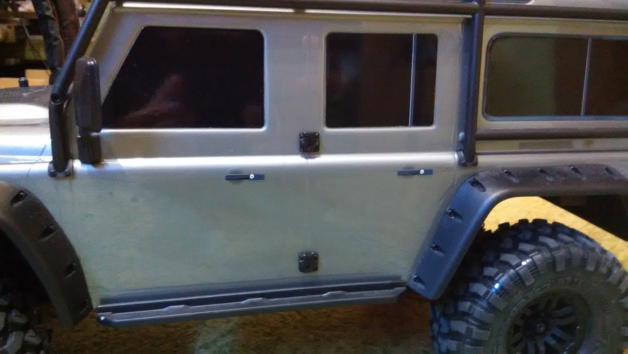 Door hinges for Traxxas TRX-4 body 3D Print 186950