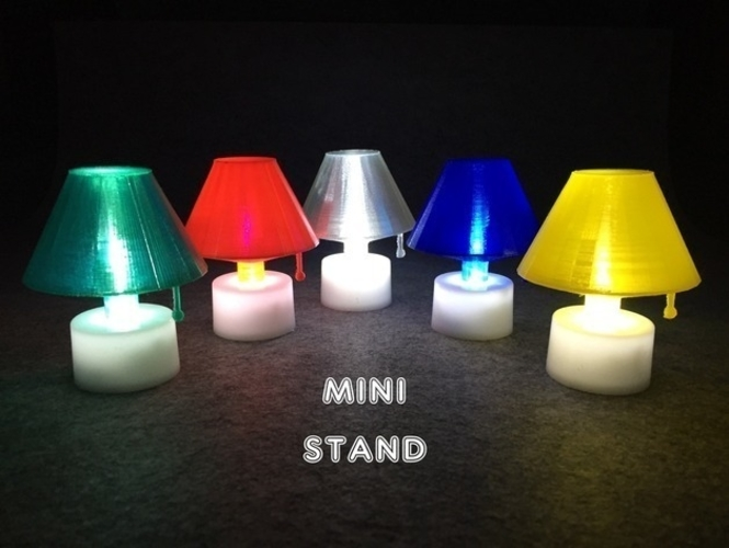 Mini Stand with LED candle 3D Print 186981