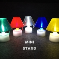 Small Mini Stand with LED candle 3D Printing 186981