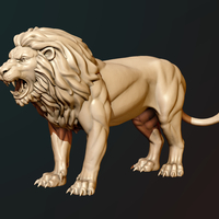 Small Lion 3D Printing 187135