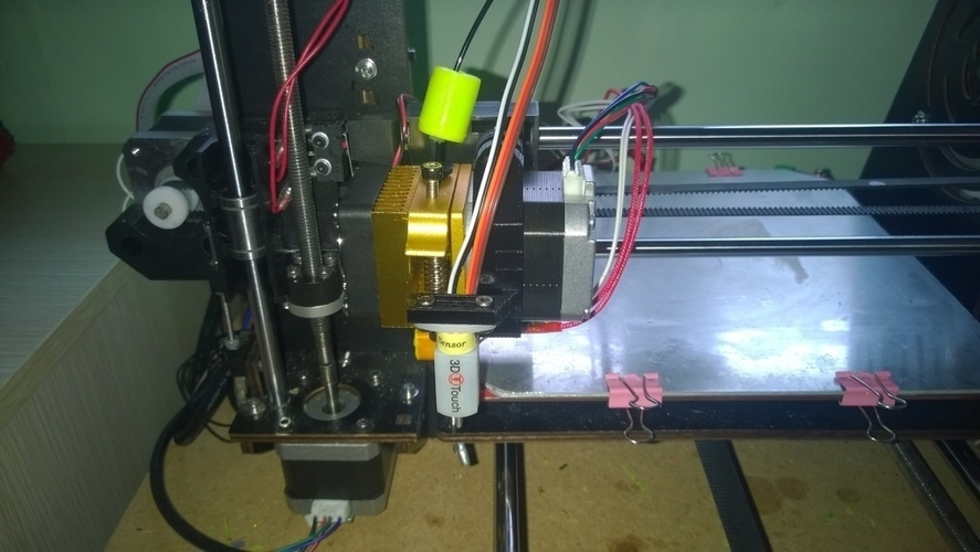 3D Printed MK8 extruder carriage with 3D Touch bracket (CTC