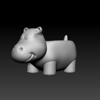 Small Hippo Planter  3D Printing 187478