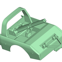Small Mojave Hilux Wrecker rear Body Trailfinder 2 TF2 RC4WD  3D Printing 187514