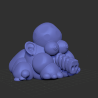 Small FAT ELEPHANT FANTASTIC MONSTER 3D Printing 187717