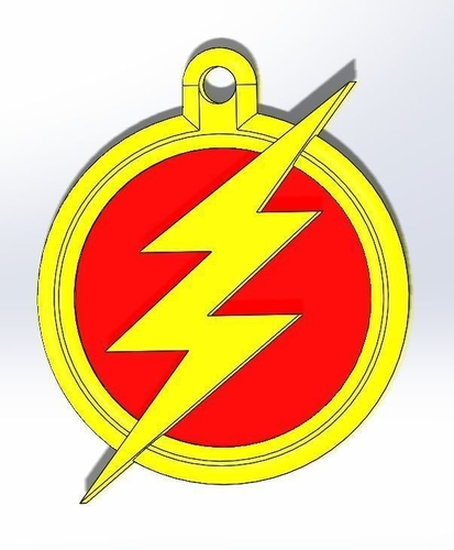 The Flash Keychain 3D Print 187722