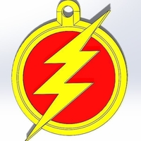 Small The Flash Keychain 3D Printing 187722