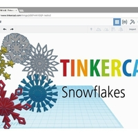 Small Snowflakes by Tinkercad 3D Printing 187781