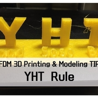 "Small ""YHT Rule"" for learning of FDM 3D printer 3D Printing 187786"