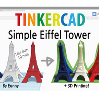 Small Simple Eiffel Tower - 10mins Modeling 3D Printing 187795