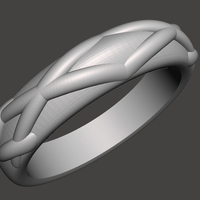 Small Checkboard Ring 3D Printing 188036